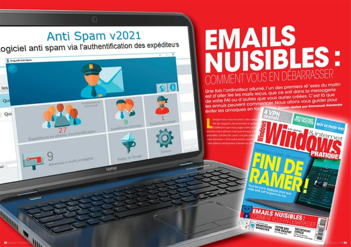 Anti-Spam 2021 dans Windows internet Pratique n°109